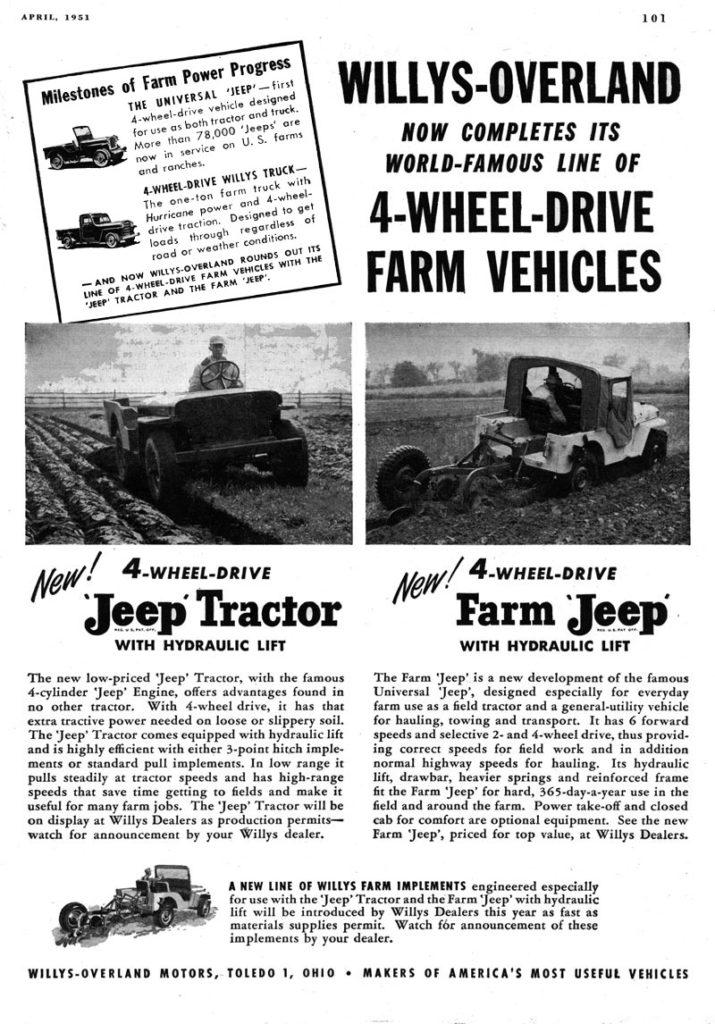 Jeep Tractor / Farm Jeep Ad