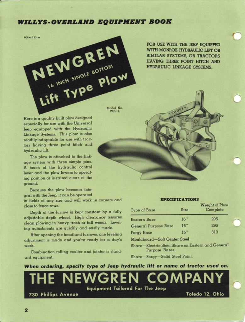 Newgren plow