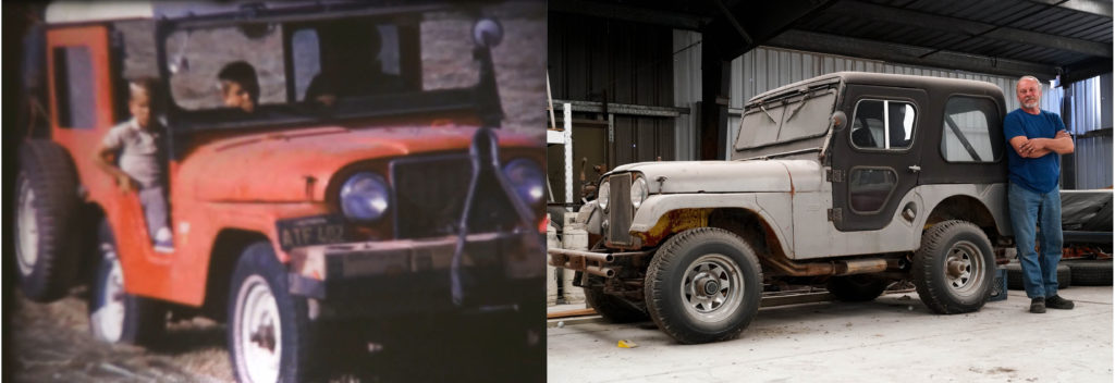 Picture of the same jeep taken almost 50 years apart