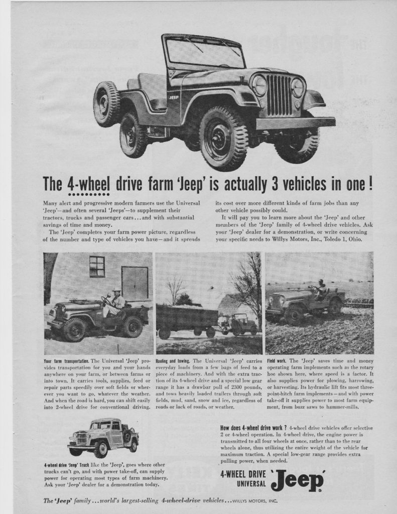 Jeep CJ5 farm ad