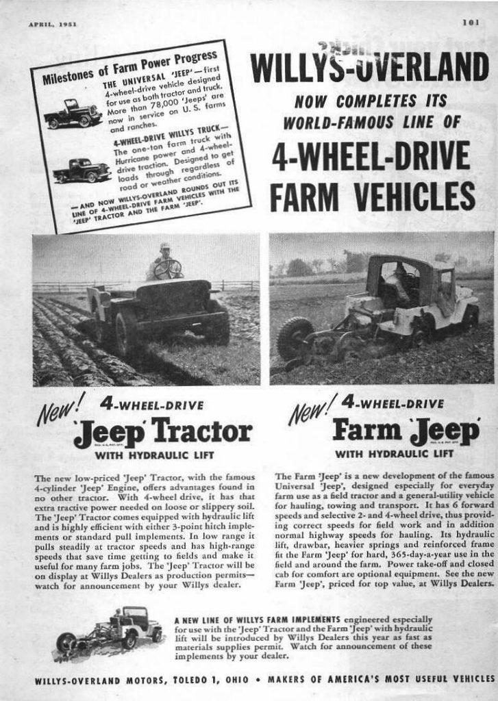 Jeep tractor ad