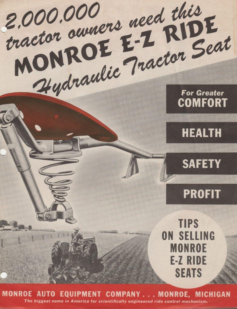 Monroe tractor seat
