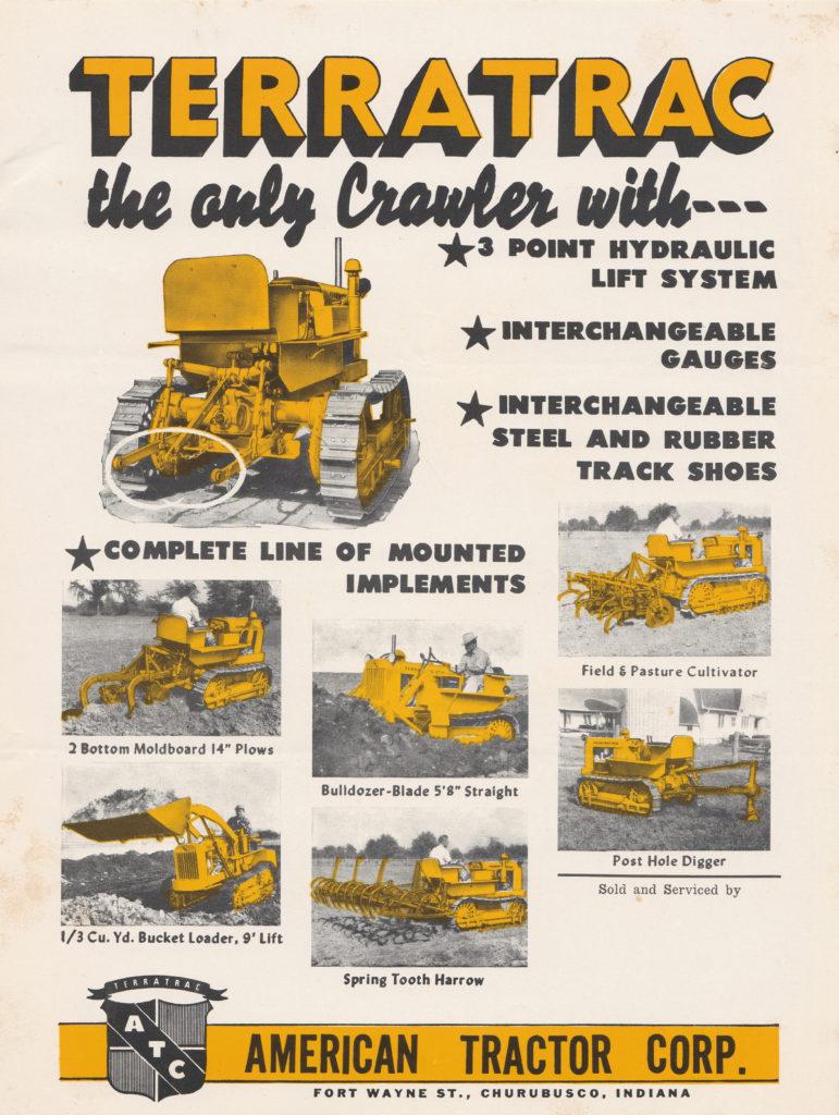 Trerratrac crawler with lift