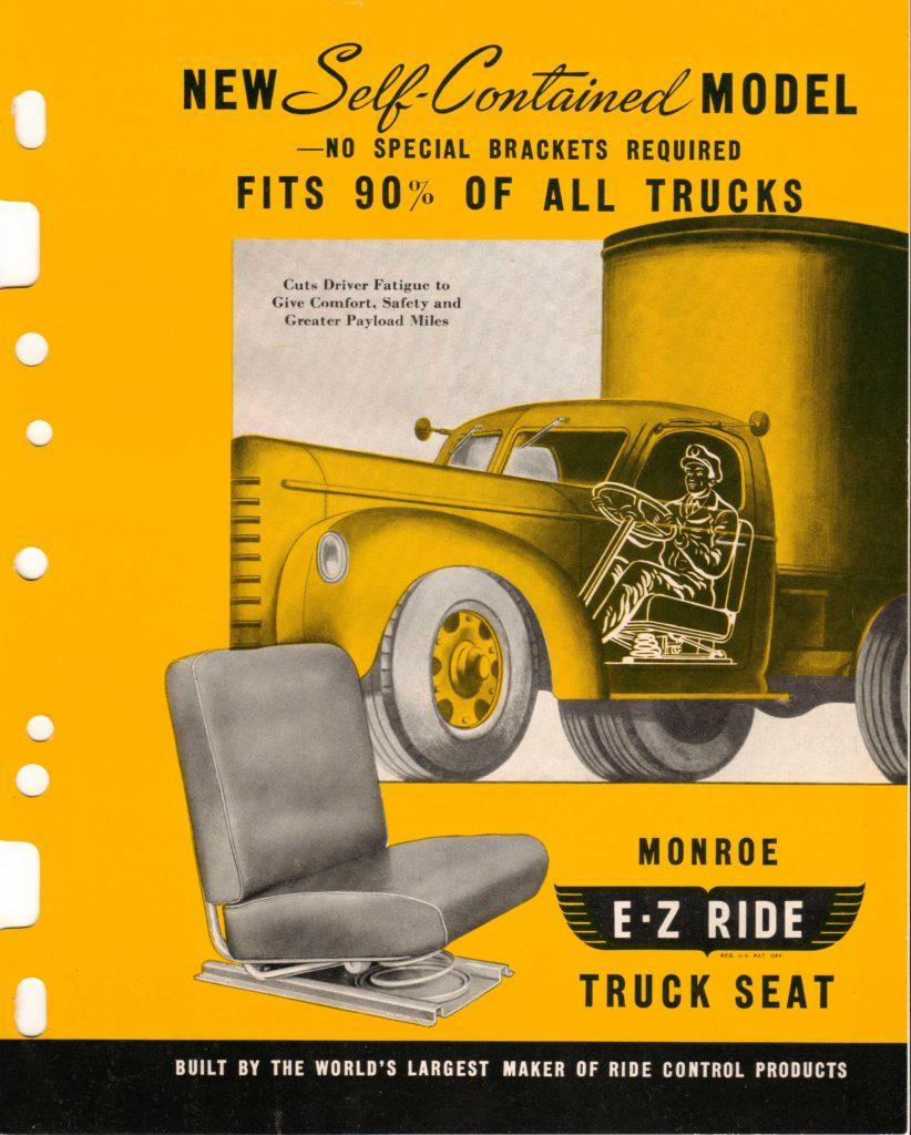Monroe truck seat brochire